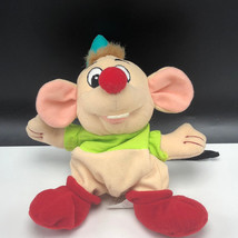 WALT DISNEY STORE PLUSH bean bag stuffed animal Cinderella mouse mice Gus green - $15.84