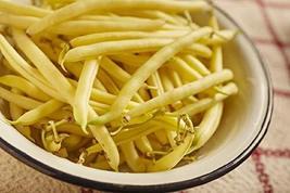 Sow No GMO Bean Bush Golden Wax Stringless Golden Yellow Snap Beans Non ... - $7.89