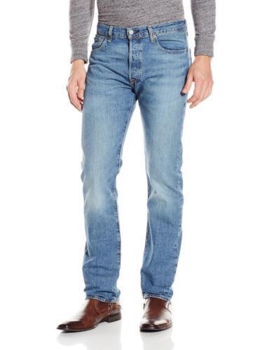 LEVI'S 501 MEN'S ORIGINAL FIT STRAIGHT LEG JEANS BUTTON FLY BLUE 501-2242 33x32