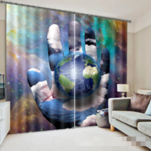 3D Earth Stars0310 Blockout Photo Curtain Print Curtains Drapes Fabric Window UK - $145.49+