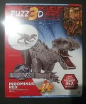 Jurassic World Indominus Rex Puzz 3D Puzzle Nib 77pc - $13.85