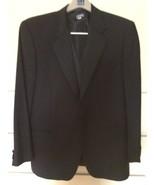 Zanieri Of Italy Black One Button Wool Tuxedo/Pleated Pants (42R) - $79.48