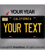 Black California ANY TEXT Your Personalized Text Aluminum License Plate ... - $14.84
