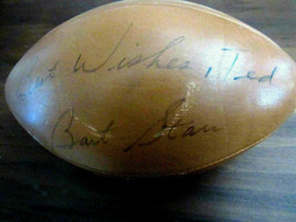 BART STARR GREEN BAY PACKERS HOF SIGNED AUTO VINTAGE WILSON ROZELLE FOOT... - $593.99