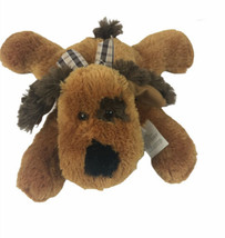 "Dan Dee Collectors Choice Floppy Laying Puppy Dog 12"" Plush Brown With Tags - $11.13"