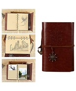Leather Writing Journal Notebook Vintage Traveler Notebook Refillable Di... - $7.09
