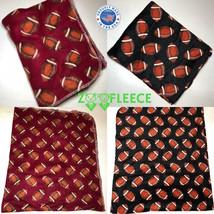 """ZooFleece Football Red Ball NFL Sports Soft 60X68"""" Linen Blanket Throw Q... - $29.95"""
