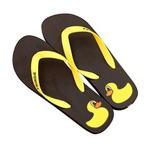 Fashion Summer Item, Lovely Duck Series Flip Flop Beach Casual Sandal, Black
