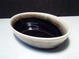 """Pfaltzgraff Gourmet Brown Drip Oval Deep Bakers Bowl / Dish ~ 8""""x5 1/2"""" - $4.99"""