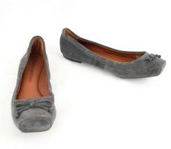 Lucky Brand Ballet Flat Gray Suede Shoe US  6.5  Sandriana  EU 37 - $29.02