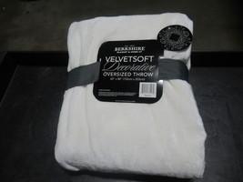 """Berkshire Blanket Throw 60""""x80"""" Super Oversized Velvetsoft Multiple Colors - $21.99"""