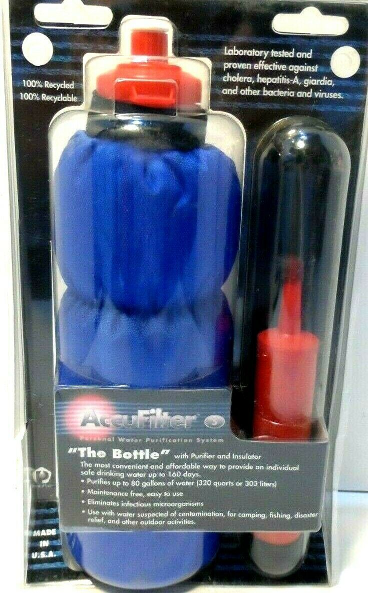 "Primary image for AccuFilter ""The Bottle"" with Purifier and Insulator personal system New"
