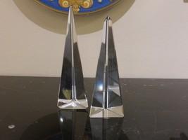 Vintage Pair of Glass Pyramid Towers - $84.00