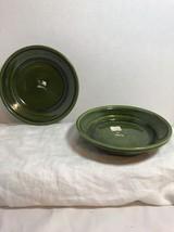 """2 Vtg Gmundner Keramik Austrian Ceramic Pottery Dark Green 6 1/4"""" Hangin... - $18.69"""