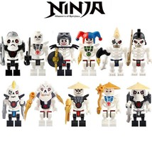 10pcs/set Skulkin (Skeleton Army) Krazi Samukai Kruncha Ninjago Minifigures - $18.99