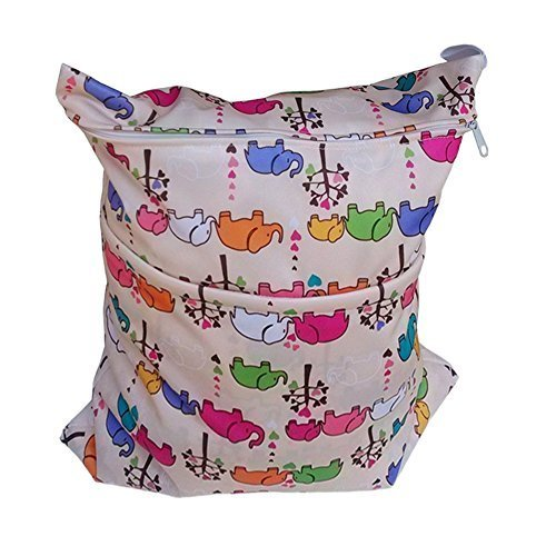 "Elephant Wet Bags Waterproof Diaper Bag Multi-function Nappy Bag -14""11"""