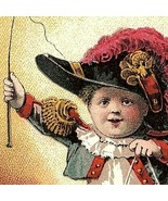 Trade Card Victorian Child Playing Fancy Hat Whip Blocks James Pyle's Pe... - $34.43