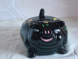 Japanese Piggy Bank With Yellow Flowers - $10.00