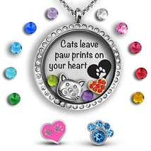 Cat Gifts For Cat Lovers Gifts For Women | Cat Lady (Paw Prints Crystal ... - $29.57