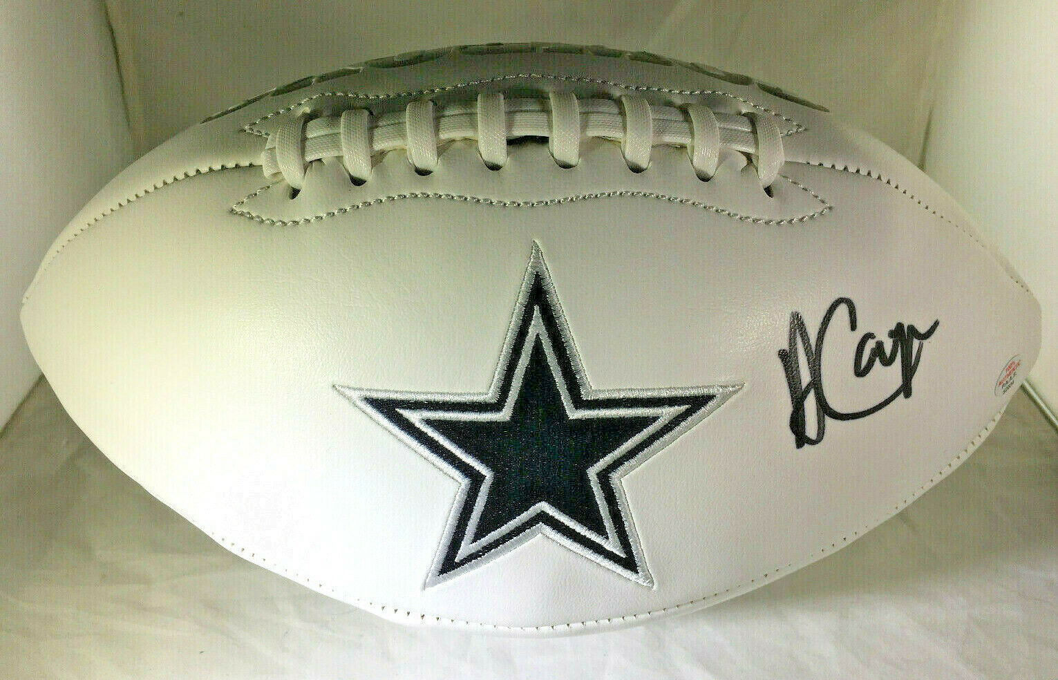 AMARI COOPER / DALLAS COWBOYS / AUTOGRAPHED COWBOYS LOGO WHITE FOOTBALL / COA