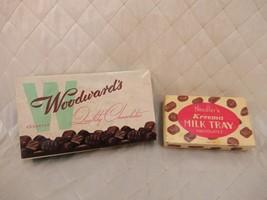Chocolate Boxes Vintage Woodward's Needles Kreema Milk Tray Empty England Canada - $24.18