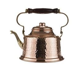 MisterCopper Heavy Gauge 1mm Thick Hammered Copper Tea Pot Kettle Stovet... - $45.52