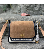 Tory Burch Bennett Mixed-Materials Small Saddle Bag - $448.00