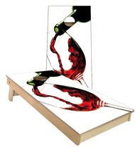 Red Wine Pouring in Glass Cornhole Boards - $179.00