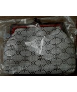 BRAND NEW IN PLASTIC Vinyl Clutch Make-Up Bag, Clasp Closure, Classy Design - $9.89