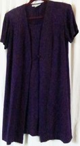 DressBarn Dress Purple 14 Short Sleeve Knee Length - $13.32