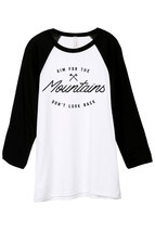 Thread Tank Aim For The Mountains Don't Look Back Unisex 3/4 Sleeves Bas... - $24.99+