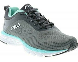 FILA Women's Grey Mint Memory Foam Outreach Athletic Running Tennis Shoes 6 US