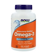 Now Foods, Omega-3, 180 EPA/120 DHA, 200 Softgels Cardiovascular Support - $19.00