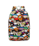 Graffiti Canvas Backpack Students School Bag For Teenage Girls Boys Back... - $301,76 MXN