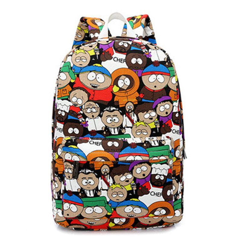 Kpack students school bag for teenage girls boys backpacks street bags cartoon printing rucksack