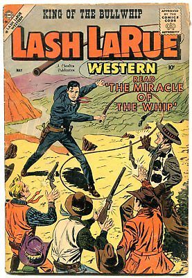 Lash LaRue #72 1959- Charlton Western- Whipping cover VG