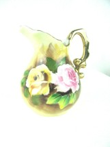 """Vintage ENESCO Imports """"ROSE FLORAL"""" Themed Small Cream Pitcher  - $14.80"""