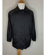 Loro Piana Womens Horsey Olympics 1992 LE Leather Collar Jacket Coat Bla... - $199.95