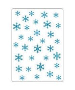 """Crafts-Too Embossing Folder 4""""X6"""" Snowflakes - $5.45"""