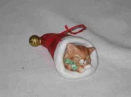 Neat Vintage SCHMID Gordon Fraser 1987 Cat Christmas Ornament - $20.45