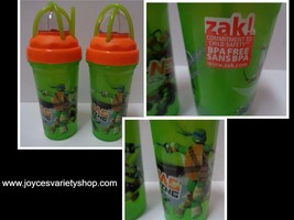 ZAK Ninjas in Training Turtle Tumblers NWT 8 oz BPA Free Lot of 2 - $14.99