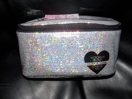 Victoria's Secret Fashion Show London 2014 makeup Case Cosmetic bag Large NEW - $30.78