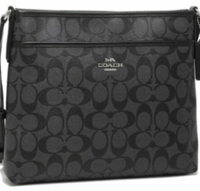 COACH SIGNATURE FILE CROSSBODY MESSENGER BAG F34938 NWT $225 - $185.86