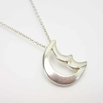 "Tiffany & Co. Necklace Paloma Picasso Cresent Moon Silver SV925 Women's 16"" - $147.51"