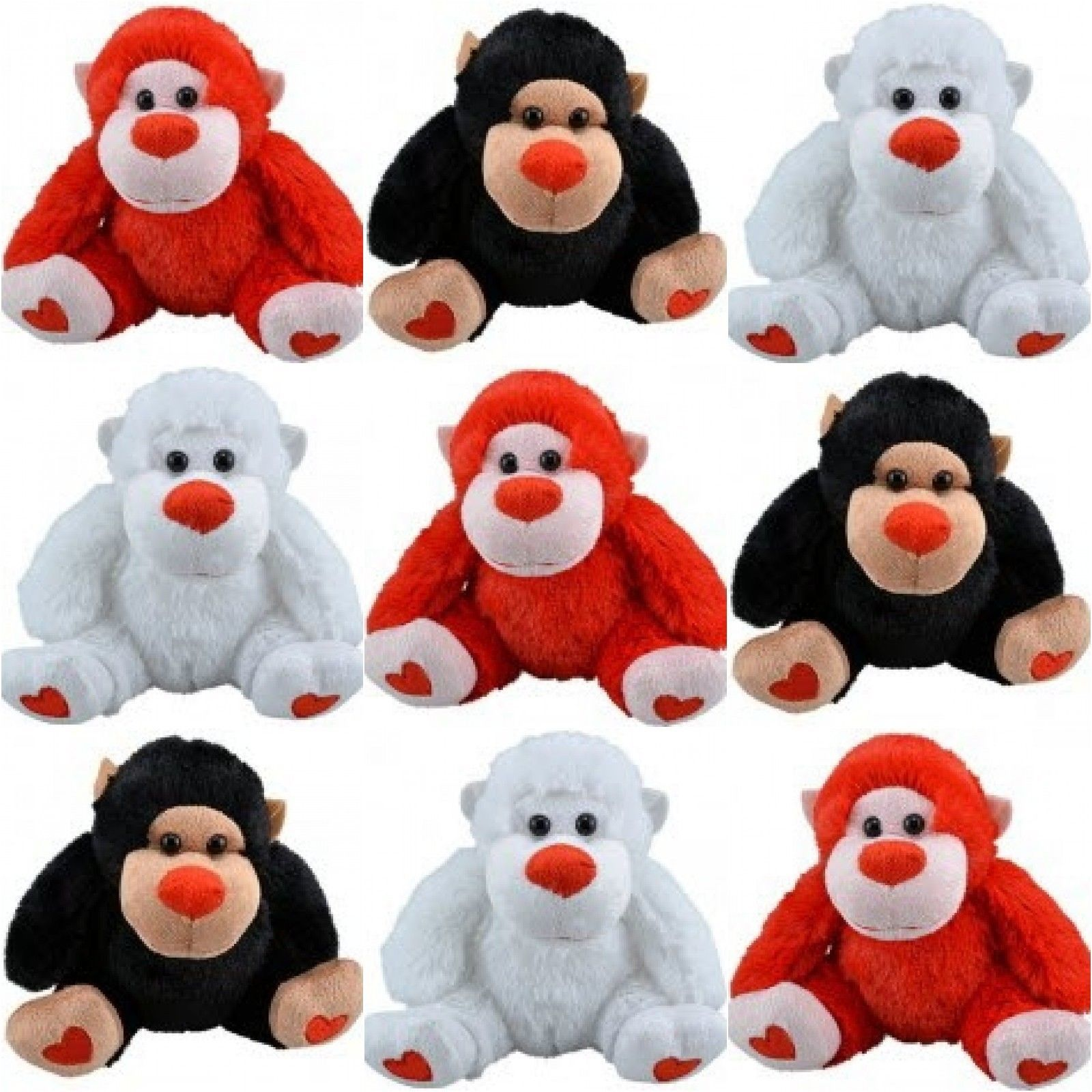 "Primary image for Adorable Plush 5"" Gorilla - Black, White, or Red"