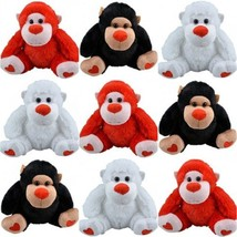 "Adorable Plush 5"" Gorilla - Black, White, or Red - $11.10"