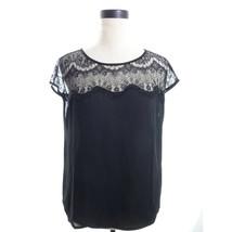 Forever 21 Black Lace Blouse Medium - $14.00
