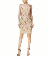 Calvin Klein Embroidered Lace Sheath Dress, Natural, 8 - $73.76