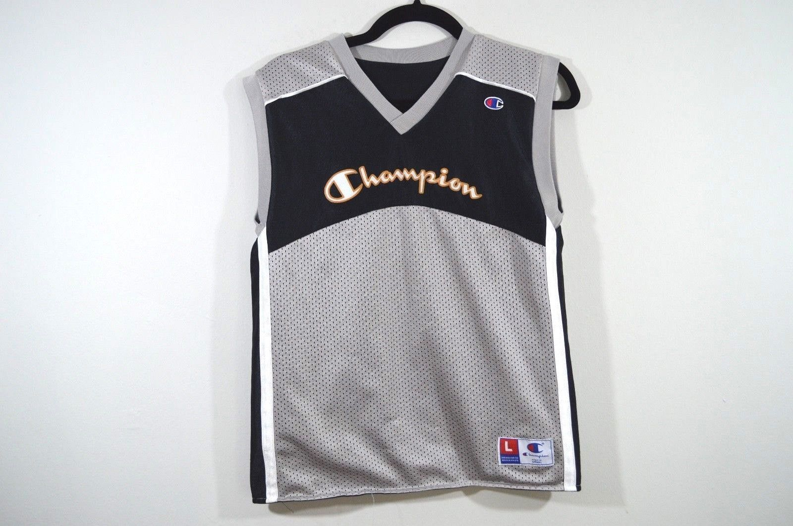 Vintage 90s CHAMPION Mens Small Reversible Spell Out Basketball Jersey Shirt