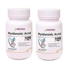 Krishna Biotrex Nutraceuticals Hyaluronic Acid 100mg - 60 Capsules (Pack... - $59.89
